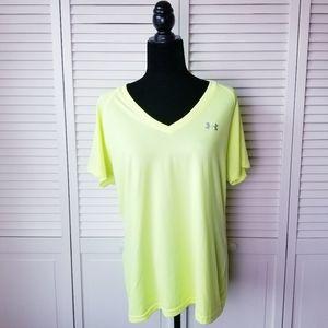 Under Armour Neon Yellow Heat Gear Short Sleeve